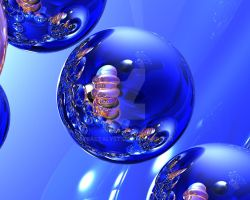 The Blue Orbs of Tetron by fractalyst