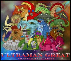 Ultraman Great Done 15 Kaijus by earthbaragon
