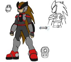 Megaman X:ZX - Easel Concept by Quickwing
