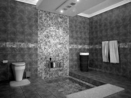 Bathroom Black and White 2 by Bettyson