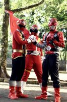 passing the torch, red sentai by keytaros