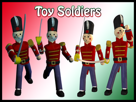 Toy Soldiers Sword Play by Stock-by-Dana