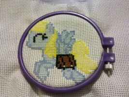 DerpyMail Cross Stitch WIP by sparklepeep