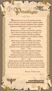 Poema: Privilegio by crisoldeleyendas