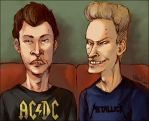 Beavis and Butt-head by spacecoyote