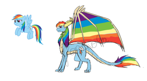 Rainbow Dash - Dragon design by floravola