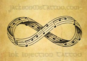 Infinity Music Note Tattoo Design by jacksonmstattoo