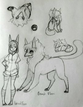Persona sketches-- by TheCat-In-TheClouds