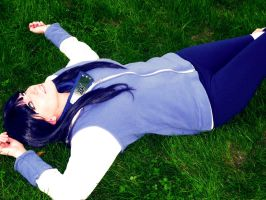 Hinata In the Grass by Hikari-Cosplay