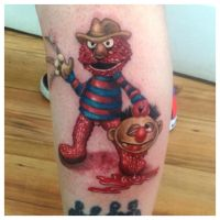 Elmo Street Tattoo :) by MalSemmens