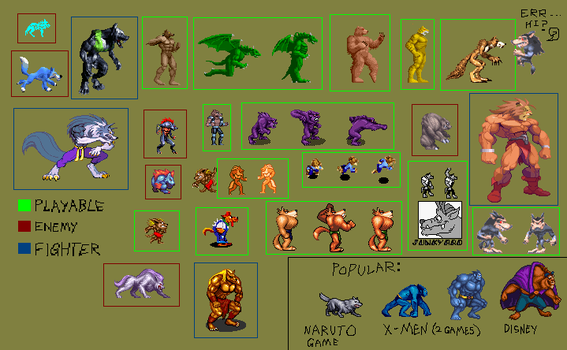 Werebeast and wolves games2D by Chucha616