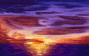 MS Paint Sunset by Innuo