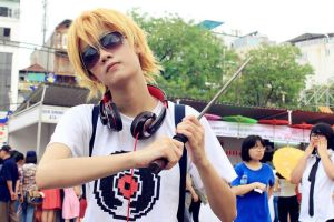 Dave Strider cosplay (with Katana) by akira92414