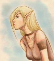 Elven beauty +colored sketch+ by 77Shaya77