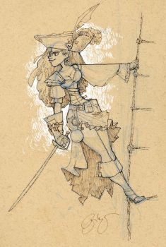 pirate sketch by BrianKesinger