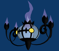 609 - Chandelure by Trigononamous