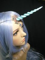 Lady Amalthea - handmade Tiara with Horn by Ganjamira