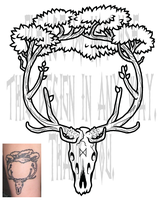 Elk Tree Tattoo by TheScreamingNorth