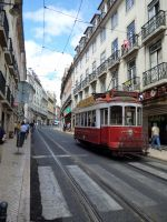 Lisbon Red Elect.car by Boias