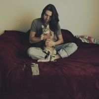 A Man and A Cat by Jessica-Lorraine-Z