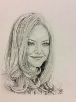 Pencil drawing of Amanda Seyfried by chaseroflight