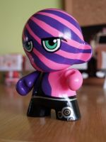 Striped custom munny by nereski