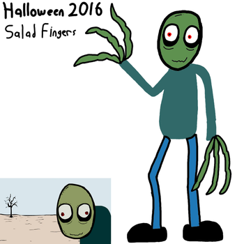 Month of Halloween 2 of 3 - Salad Fingers by maxkid1030