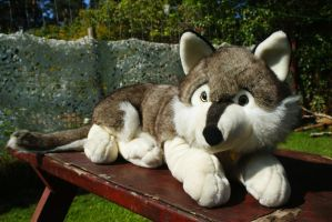 Plush and Company 24 Inches wolf plush by Huskyplush