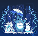 Winter Forest Friends -  Shirt design by SarahRichford