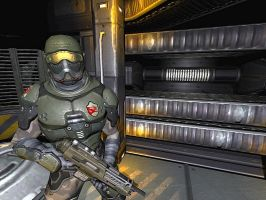 Quake 4, Halo on Mars - 01 by jmecor64
