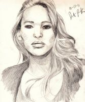 Portrait: Jennifer Lawrence by poohlikeshoney