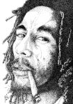 Indian Ink Dots: Mister Marley by PhantomxLord