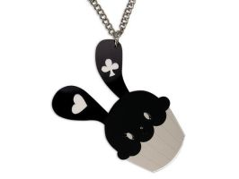 XLSweet Bunny Cupcake Necklace by SweetandCo