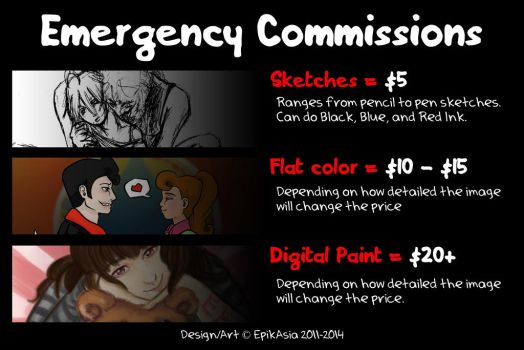 Emergency Winter 2014 Commissions by EpikAsia