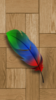 Galaxy Note2 Feather Concept by kingwicked