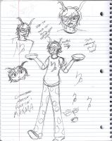 HS_A Whole Page of Pen gamzee Scribbles by Aviantei