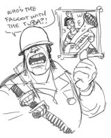 Tourettes Soldier doodle by KGBigelow