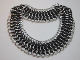 Wide Chainmaille Choker Necklace by ofmyhats