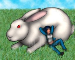Susan and her Giant Bunny by BTIsaac