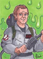 Sketch Card 208 - Peter Venkman by destinyhelix