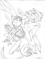 Poster Line Art 2 by Dreamkeepers