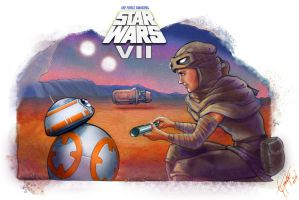 'Kira/Rey's Droid' (2)- SW The Force Awakens by shadwwithouttheo