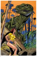 T-rex and Lunch by EJ and Steg by KevinJConley1