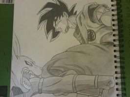 Goku vs Bills by superheroarts