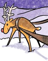 Rudolph gets ready to go... by staticgirl