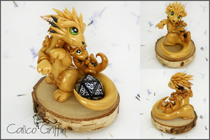 Dice Cayo Dragon - Polymer clay by CalicoGriffin