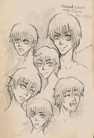 random Edward Cullen sketches by shirahime-syo13
