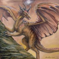 Watercolor Dragon 2 by zarathus