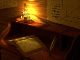 Inventor's Study by Thunderborn