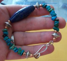 Turquoise and lapis bracelet by artefaccio